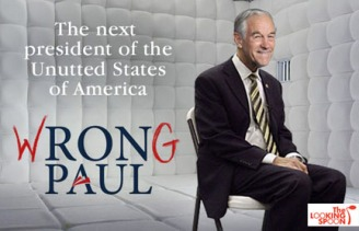 Ron Paul in a padded room