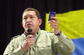 Chavez with constitution.