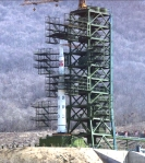 NK rocket on launch pad