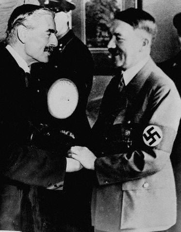 Chamberlain and Hitler in Munich