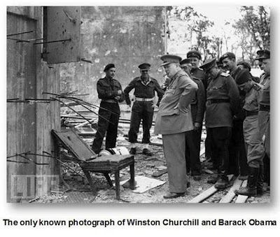 Barack Obama and Winston Churchill