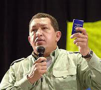 Chavez with constitution