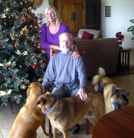 Merry Christmas from Dan, Jeanie, Princess, Shadow and Ruff