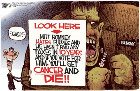 Romney causes cancer