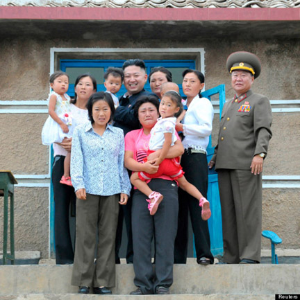 Kim with happy people