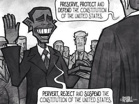 Obama takes oath