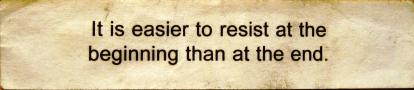 Resist at beginning