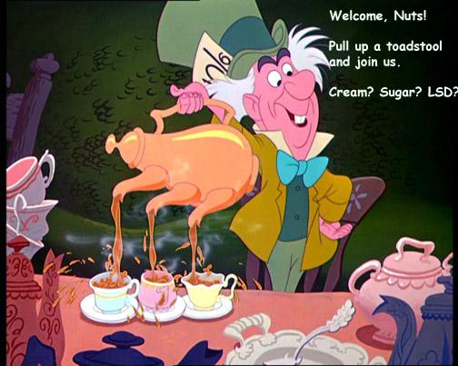 Mad hatter pours tea copy