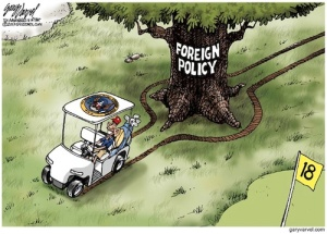 Cartoonist Gary Varvel: President Obama's foreign policy position