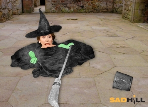 WIcked witch of west melting