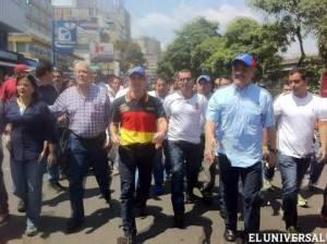 Capriles joins march