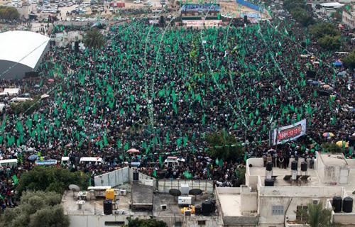 Gaza Hamas rally