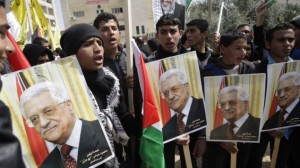 palestinians in West bank support Abbas