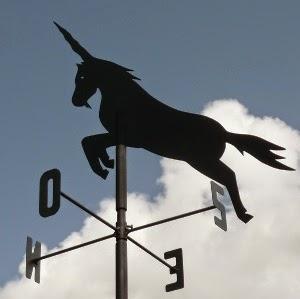Unicorn weathervane