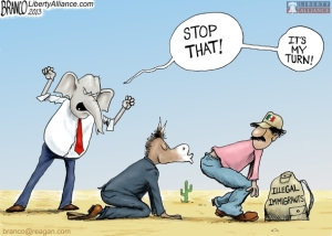 Immigrant kiss