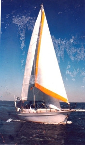 Under sail in light winds