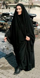old woman in burka